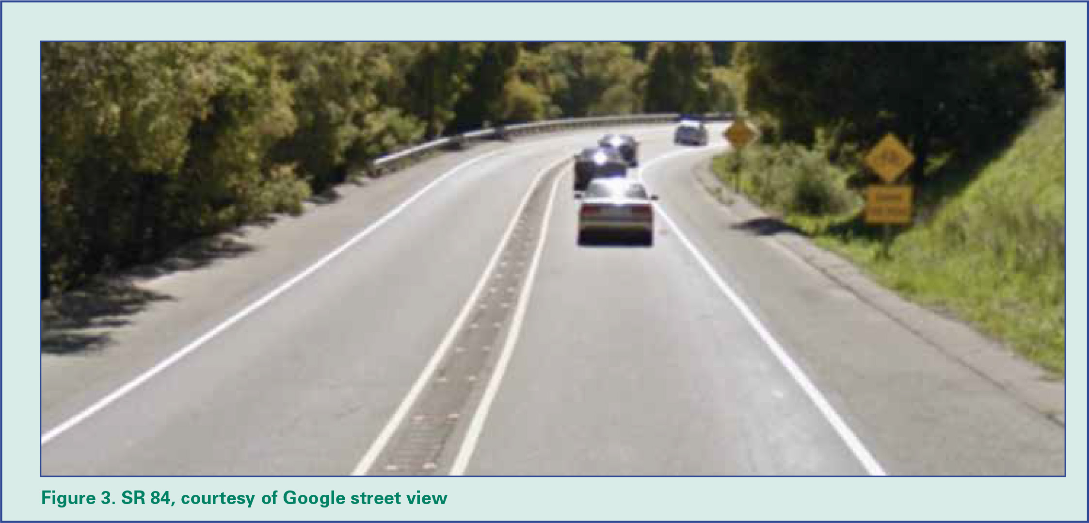 Figure 3: SR 84, courtesy of Google street view