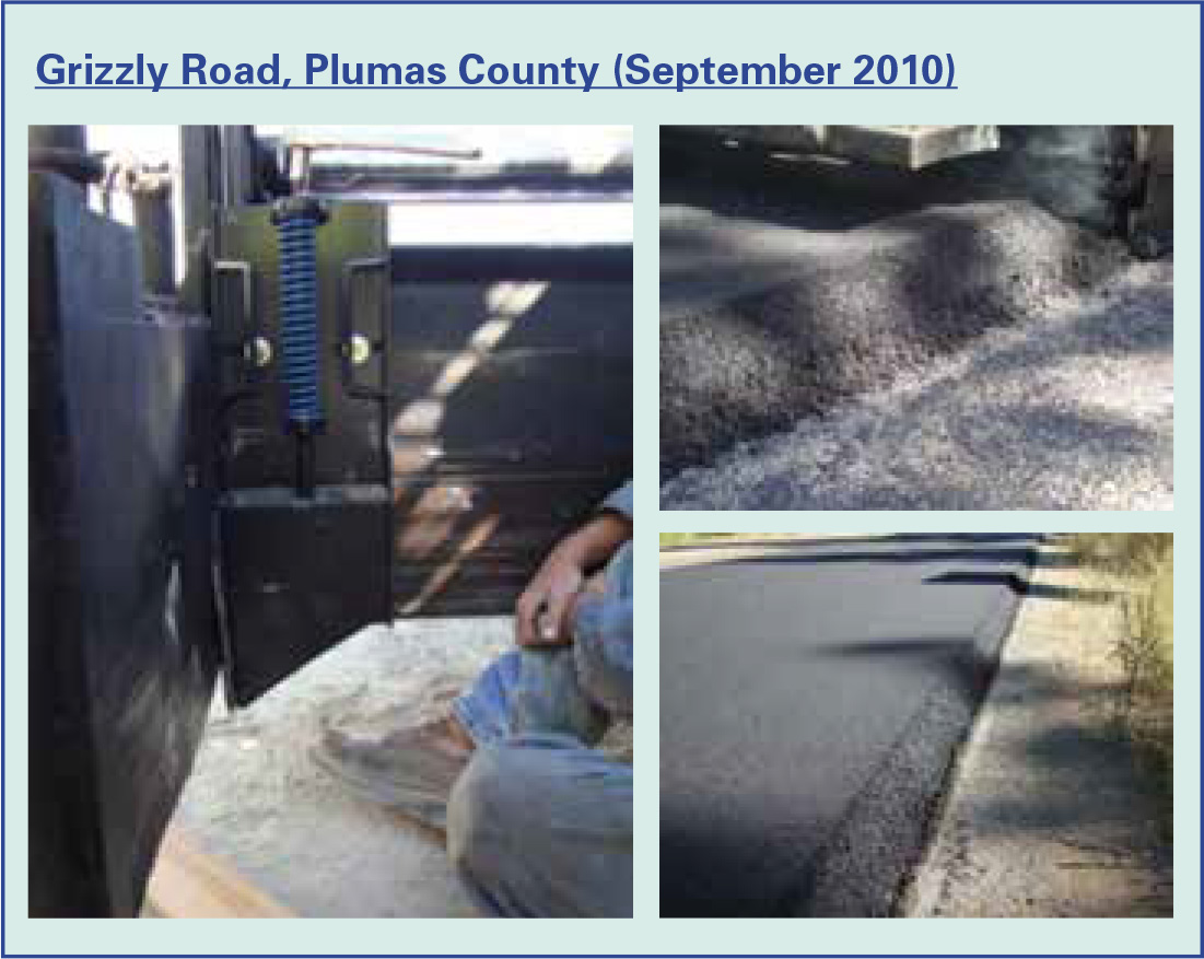 Figure 1: Grizzly Road, Plumas County (September 2010)